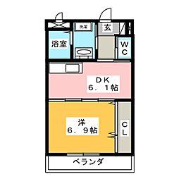 フラットゆい[3階]の間取り