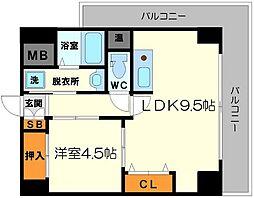 サムティ新大阪WEST[7階]の間取り