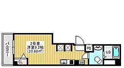 レガーロ南砂 3階ワンルームの間取り