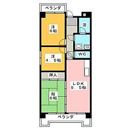 グリーンライフ犬山[1階]の間取り