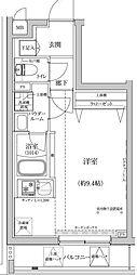 東急東横線 新丸子駅 徒歩7分の賃貸マンション 3階ワンルームの間取り