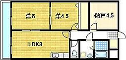 パークアベニュー藤ノ森[3階]の間取り