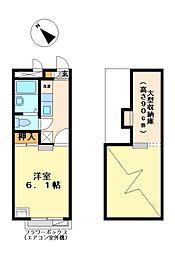 兵庫県加古郡播磨町宮西2丁目の賃貸アパートの間取り