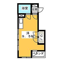 上西ビル[2階]の間取り