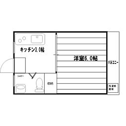 新城アパート[302号室]の間取り