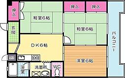 コーポ社ノ木[103号室]の間取り