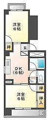 京田レジデンス[4階]の間取り