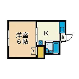 二木ハイツ[1階]の間取り