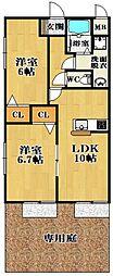 ガーデンコート丹南[1階]の間取り