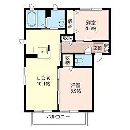 Casa Soleado H[1階]の間取り