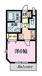 仮)グリシーヌ新田 3階1Kの間取り