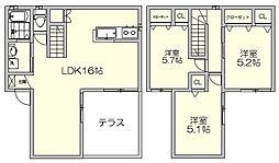 [一戸建] 福岡県福岡市博多区那珂1丁目 の賃貸【/】の間取り