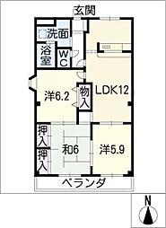 ラスカラ[1階]の間取り