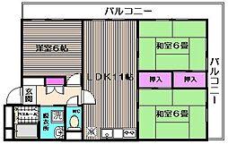 百合ヶ丘シャトー[3階]の間取り
