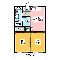 メゾン・ド・クリーク[1階]の間取り