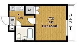 神奈川県横浜市神奈川区片倉4の賃貸マンションの間取り