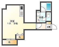 AXIS平尾2番館[4階]の間取り