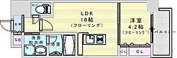 阪急神戸本線 神崎川駅 徒歩10分の賃貸マンション 6階1LDKの間取り