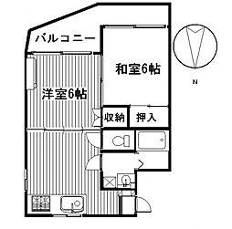 アイカワハイツ[3階]の間取り