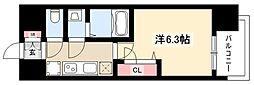 メイクス矢場町 5階1Kの間取り