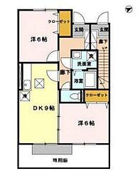 メゾンエール[1階]の間取り