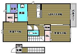 BloomStage狭山[2階]の間取り