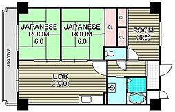 クリーン・ピア・フジ[9階]の間取り