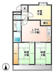 メルローズ1号館[1階]の間取り