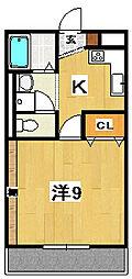 プルミエールA[1階]の間取り