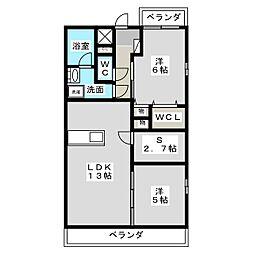 Esperanza・K[2階]の間取り