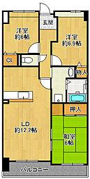 センチュリーコート宝塚弐番館[2階]の間取り