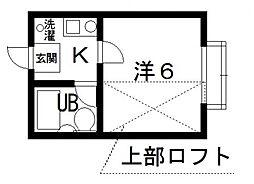 サンシャトー桜ヶ丘[106号室号室]の間取り