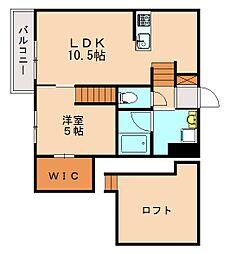 FAMILY STAGE香椎駅東 2階1LDKの間取り