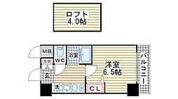 エステムコート神戸県庁前IIIフィエルテ[1301号室]の間取り