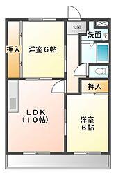 メゾンドダイハチ[1階]の間取り