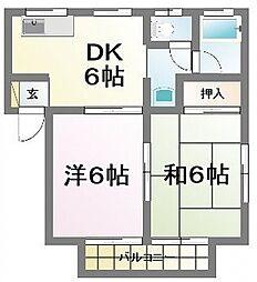 三上ハイツI[2階]の間取り