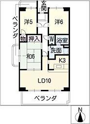 レジデンスモリ[4階]の間取り