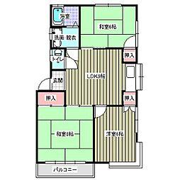 エクセント高田[2階]の間取り