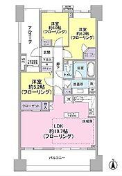 東京都大田区中馬込1丁目の賃貸マンションの間取り
