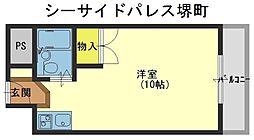 シーサイドパレス堺町[4階]の間取り