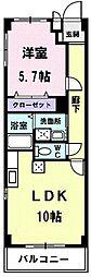 シャンドフルール元町[105号室]の間取り