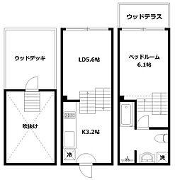 hike〜Skip floor terrace house〜[E号室]の間取り
