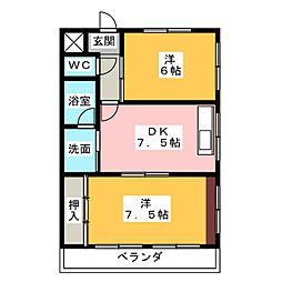 サン・シャトー[2階]の間取り