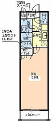 フジパレス津久野3番館[2階]の間取り