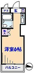 TOP原木中山第3[205号室]の間取り