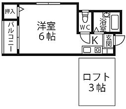 アルファピネン博多[1階]の間取り