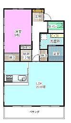シエスタ海老塚[2階]の間取り