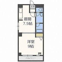 琴似1・6マンション[5階]の間取り