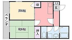 藤原ハイツ[201号室]の間取り