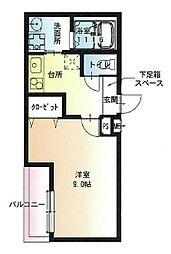 Osaka Metro今里筋線 瑞光四丁目駅 徒歩3分の賃貸アパート 2階1Kの間取り